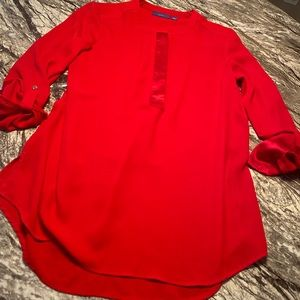 Apt 9 Red Long/ 3/4 sleeve Top with zipper